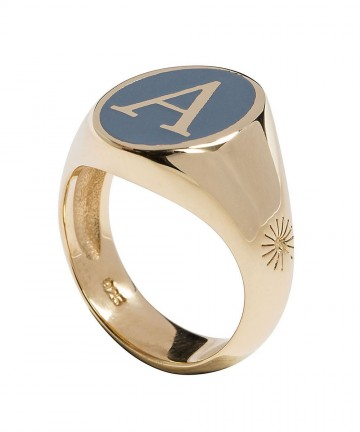 Personalised Enamelled Chevalier Gold-Plated Ring cabf844107b